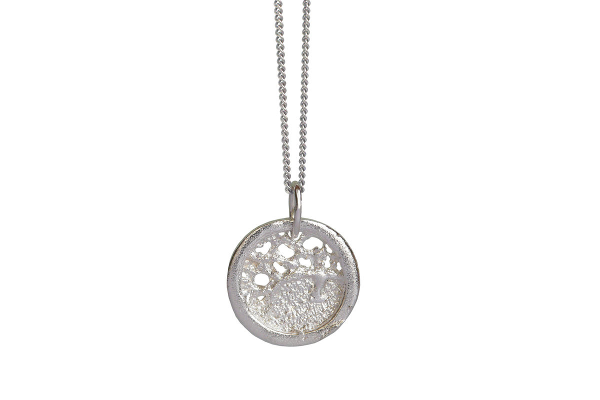 Silver lace round necklace rose ellen cobb silver lace round necklace aloadofball Choice Image