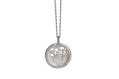 Silver Lace Round Necklace - product images  of