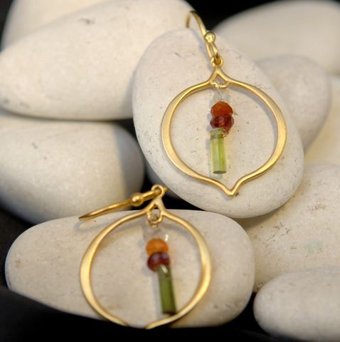Orissa,earrings,orissa, gold, carnelian, colorful, gemstones, villain, necklaces, causal, special, gift, the artisan group