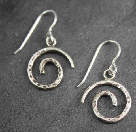 Spiral,sterling,silver,earrings,silvermith, labyrinth,silver earrings, spiral, villain accessories, meditation,hand made