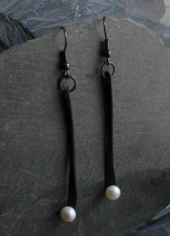 Pendulum,earrings,Large,Statement, Earrings, organic, metal, classic, jewelry, earrings, sterling, black, modern