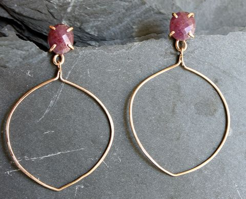 Morocco,Earrings,earrings, hoops, gemstones, villain Accessories