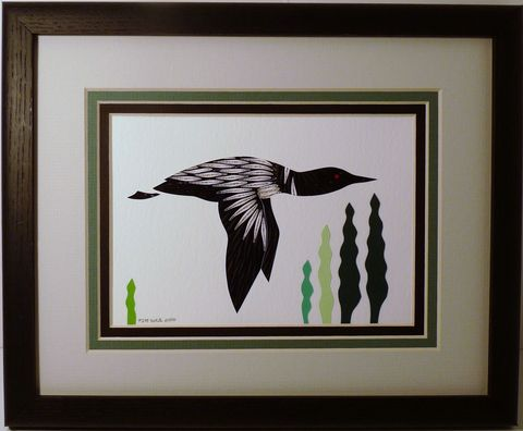 Quilled,Loon,in,Flight,Wall,Art,Handcrafted,loon,quilling,wall art,handcrafted,paper art