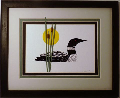 Quilled,Loon,Wall,Art,Handcrafted,loon,quilling,wall art,handcrafted,paper art