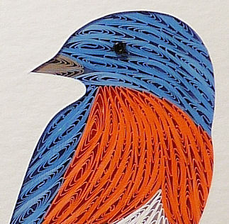 Quilled,Bluebird,wall,art,handmade,Quilling,rolled paper,nuthatch,bird,wall art,Quilling by Sandra White