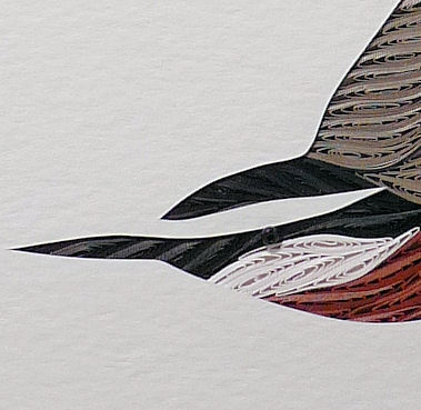 Quilled Red Breasted Nuthatch wall art handmade - product image
