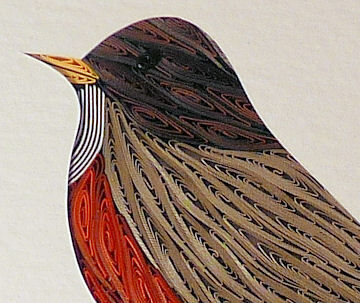 Quilled Robin wall art handmade - product image