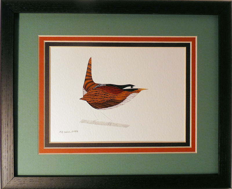 Quilled Wren wall art handmade - product image