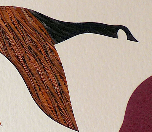 Quilled Canada Goose in Flight wall art handmade - product image