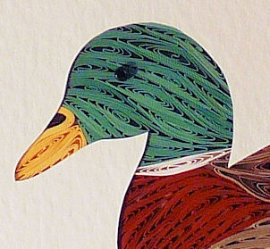 Quilled Mallard wall art handmade - product image