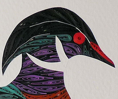 Quilled Wood Duck wall art handmade - product image