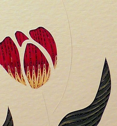 Quilled Tulips wall art handmade - product image