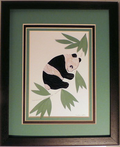 Quilled,Panda,wall,art,handmade,Quilling,rolled paper,panda,wall art,Quilling by Sandra White