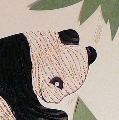 Quilled Panda wall art handmade - product image