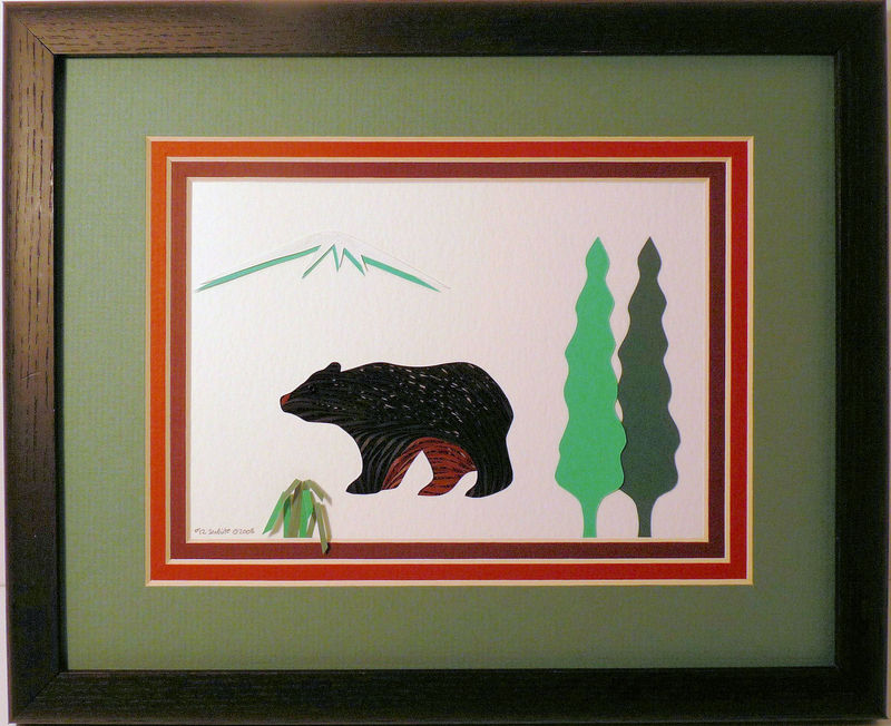 Quilled Bear Wall Art Handcrafted - product image