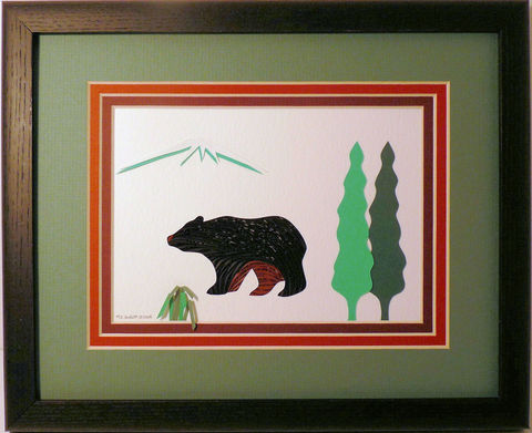 Quilled,Bear,Wall,Art,Handcrafted,bear,quilling,wall art,handcrafted,paper art