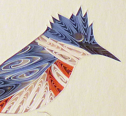 Quilled Little One Kingfisher Bookcase Art - product image