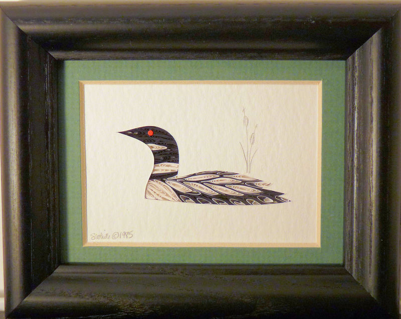 Quilled Little One Loon Bookcase Art - product image