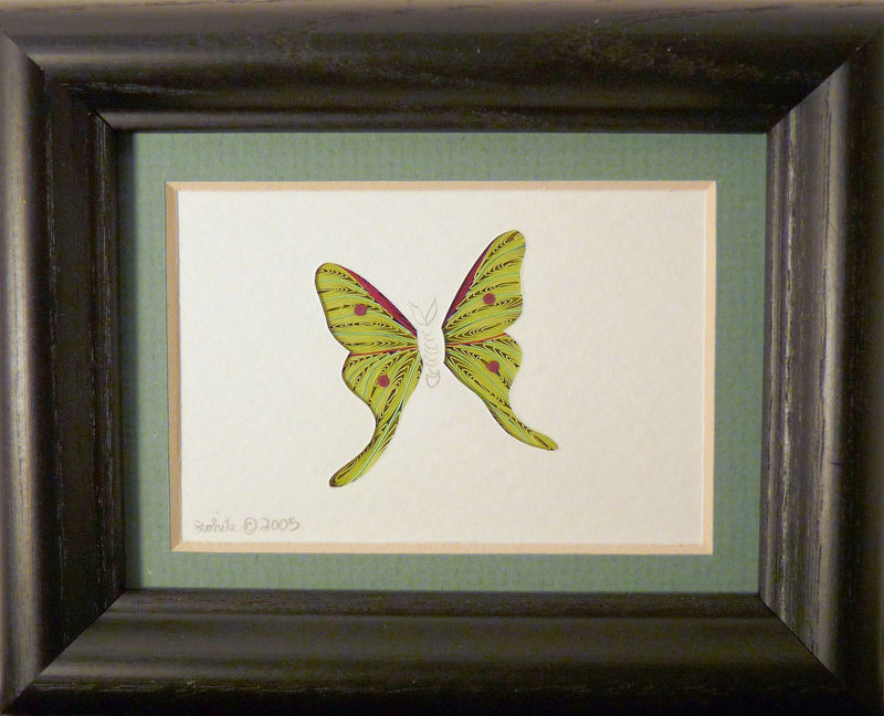 Quilled Little One Luna Moth Bookcase Art - product image