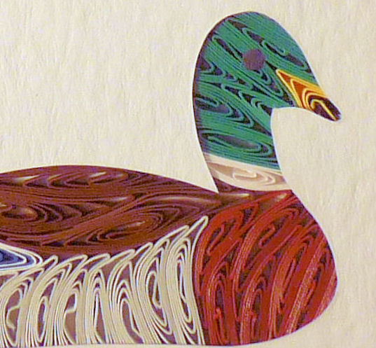 Quilled Little One Mallard Bookcase Art - product image