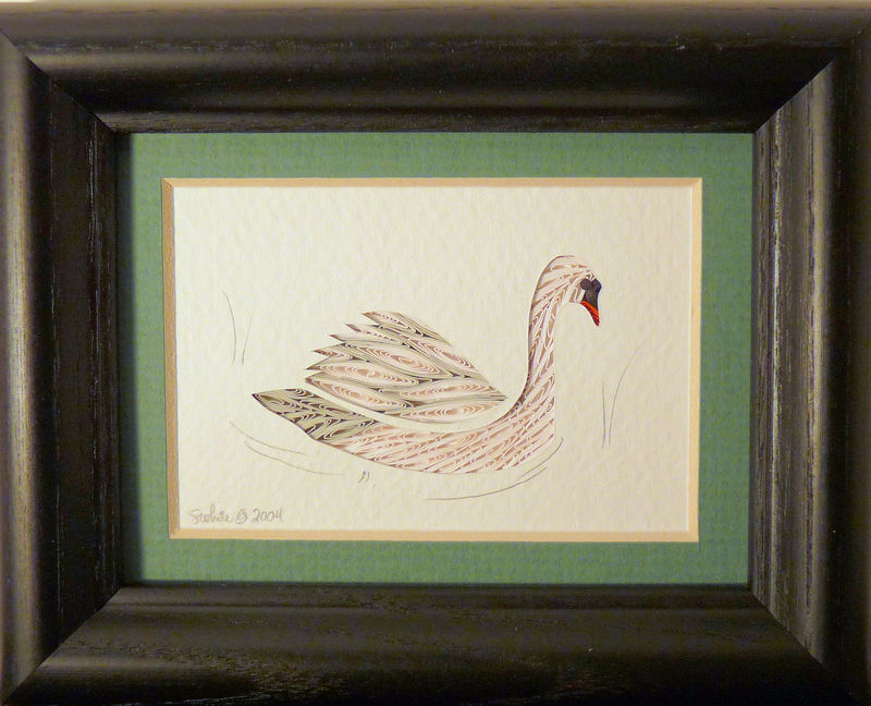 Quilled Little One Swan Bookcase Art - product image