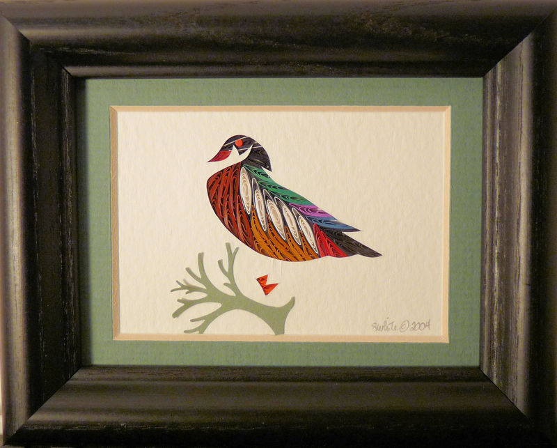 Quilled Little One WoodDuck Bookcase Art - product image