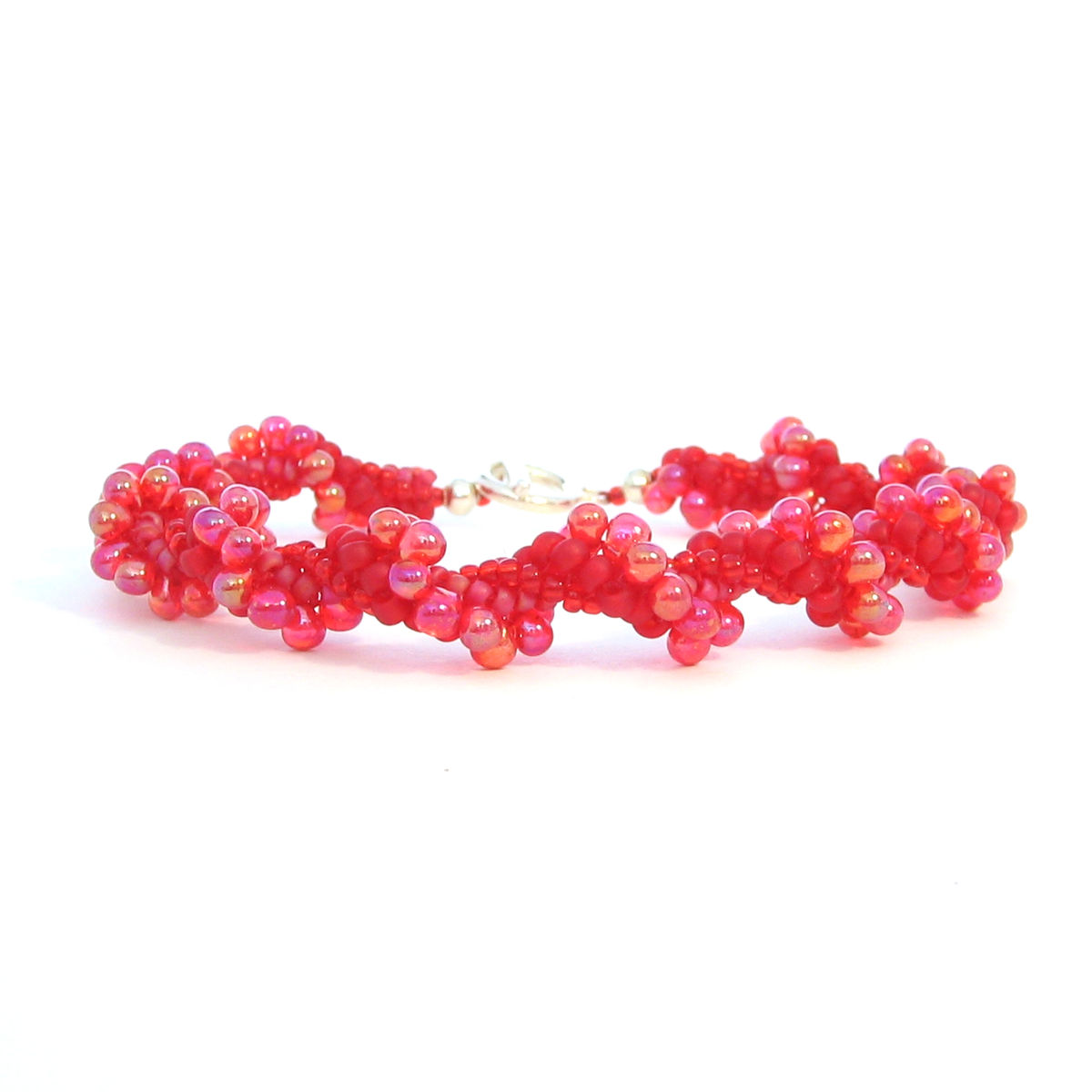 Red Spiral Herringbone Bracelet - product images  of