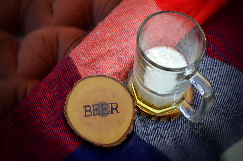 Wood Burned Oak Coasters- Beer - product images  of