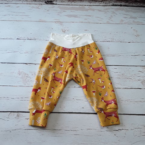Classic,Relaxed,Fit,Cuffed,Pants-,Fox,Print,Leggings, pants, puppy