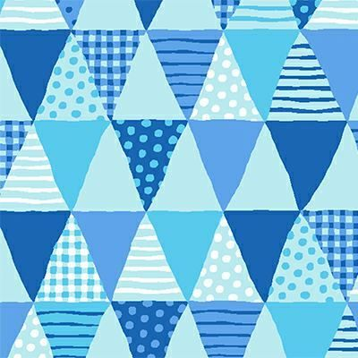Cotton Quilt Fabric Cuteville Country Fair Banner Baby Blue - product images  of