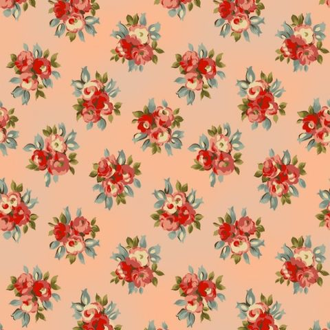 Cotton,Quilt,Fabric,Floral,Avoncliff,Peach,Rose,R,Pandolf,quilt fabric,cotton material,auntie chris quilt,sewing,crafts,quilting,online fabric,sale fabric