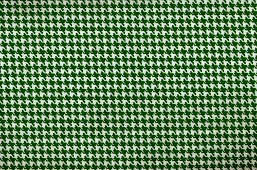 Cotton Quilt Fabric Classic Houndstooth Check Forest Green And White - product image