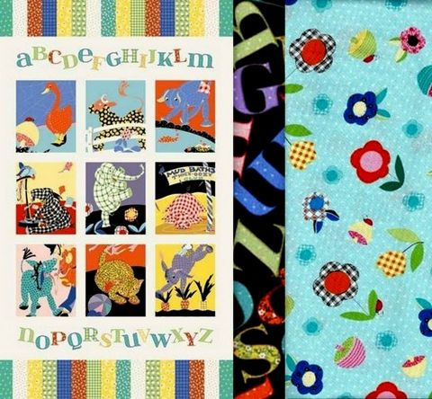 Easy,Fabric,Panel,Quilt,Kit,Vintage,Look,Animal,Alphabet,Baby,kit,quilt fabric,cotton material,auntie chris quilt,sewing,crafts,quilting,online fabric,sale fabric