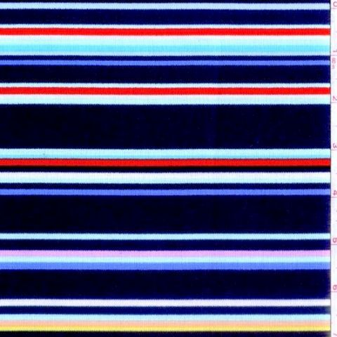 Cotton,Quilt,Fabric,Stripes,Michael,Miller,Navy,Blue,Multi,Stripe,quilt fabric,cotton material,auntie chris quilt,sewing,crafts,quilting,online fabric,sale fabric