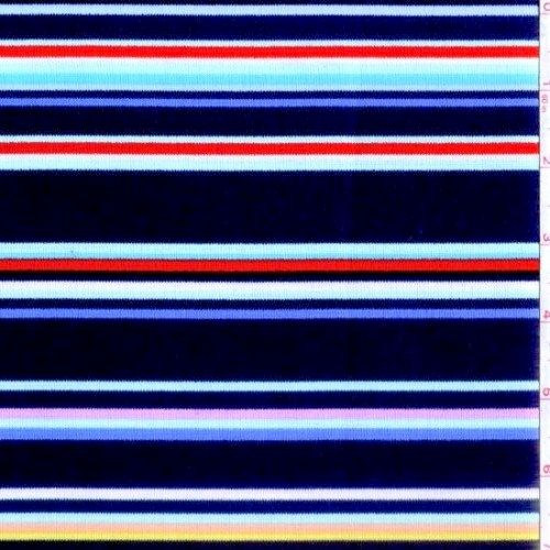 Cotton Quilt FabricStripes Michael Miller Navy Blue Multi Stripe  - product images  of