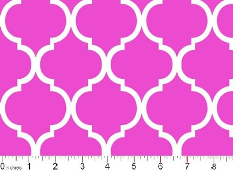 Good,Buy,Cotton,Quilt,Fabric,Colorful,Quatrefoil,White,On,Hot,Pink,quilt fabric,cotton material,auntie chris quilt,sewing,crafts,quilting,online fabric,sale fabric