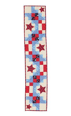 All,Stars,Table,Runner,Kit,Red,White,And,Blue,Patriotic,American,kit,quilt fabric,cotton material,auntie chris quilt,sewing,crafts,quilting,online fabric,sale fabric