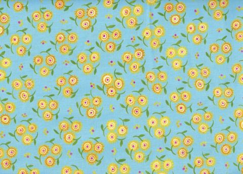 Cotton,Quilt,Fabric,Mooshka,Trifloral,Blue,Folk,Art,Paschkis,quilt fabric,cotton material,auntie chris quilt,sewing,crafts,quilting,online fabric,sale fabric