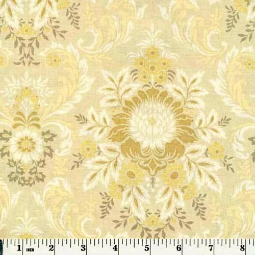Cotton Quilt Fabric Juliet Collection Ivory Damask Anna Griffin  - product image