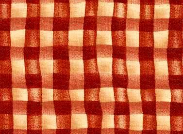 Cotton Quilt Fabric Happily Ever After Red Check Gingham Country  - product image