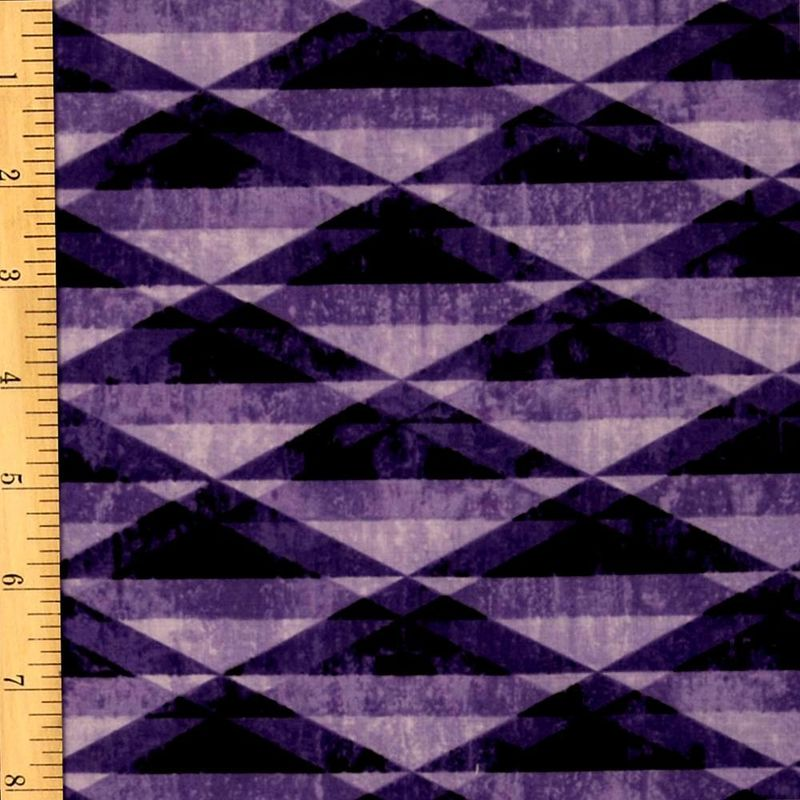 Cotton Quilt Fabric Diamond Prism Purple Geometric Michael Miller - product image