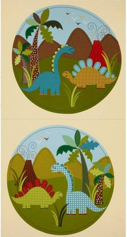 Quilt,Fabric,Panel,Dino,Dinosaur,M,Miller,Pillow,Blocks,quilt fabric,cotton material,auntie chris quilt,sewing,crafts,quilting,online fabric,sale fabric