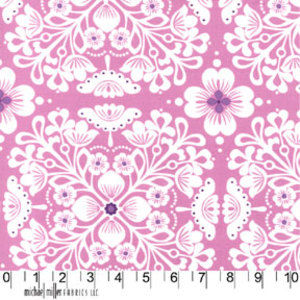 Cotton Quilt Fabric It's A Girl Thing Pippa Orchid Purple  - product images  of