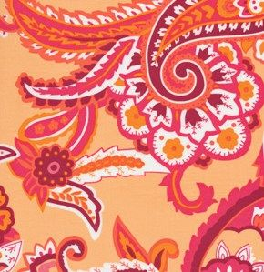 Cotton Quilt Fabric Darjeeling Mahati Peach Paisley - product image