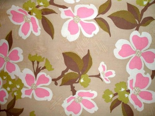 Cotton Quilt Fabric Modern Meadow Tan Pink Joel Dewberry - product images  of