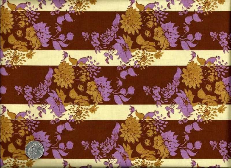 Cotton Quilt Fabric Treetop Fancy Stepping Stones Coco Brown Stripe - product image