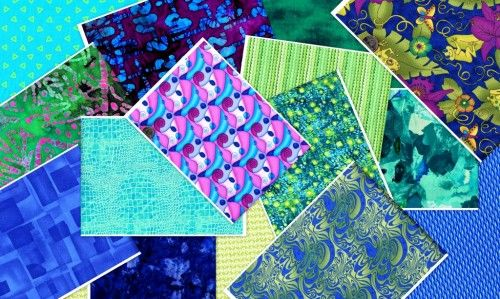 3 Yard Stash Builder Blue Lagoon Stash Pack Quilt Fabric - product images  of