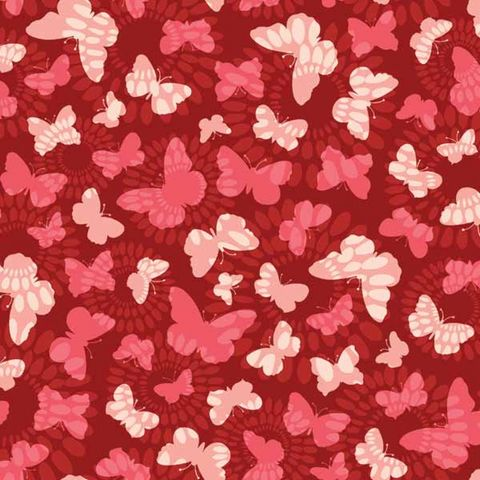 Cotton,Quilt,Fabric,Spintastic,Butterfly,Suzani,Red,Pink,570 quilt fabric,cotton material,auntie chris quilt,sewing,crafts,quilting,online fabric,sale fabric,fat quarters,modern cotton