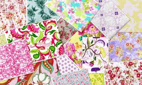 2,Yard,Cottage,Chic,Stash,Builder,Pack,Quilt,Fabric,quilt fabric,cotton material,auntie chris quilt,sewing,crafts,quilting,online fabric,sale fabric