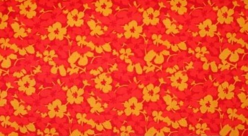 Cotton Quilt Fabric English Garden Orange Yellow Flowers Northcott - product image